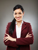 Happy hispanic businesswoman — Stok fotoğraf
