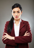 Happy hispanic businesswoman — Stockfoto
