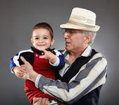 Grandpa and grandson — Stok fotoğraf