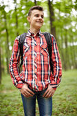 Teenager boy with school bag — Foto de Stock