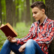 Teenager reading a book — Stock Photo #48593581