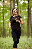 Caucasian woman training — Stock Photo