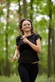 Caucasian woman training — Foto Stock