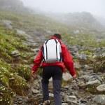Teenage hiker on mountain — Stock Photo #48714679