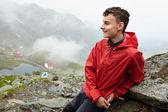 Having a break from hiking — Stock Photo