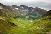 Hiking trail in the Romanian mountains — Foto Stock