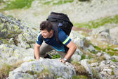 Hiking alone — Stock Photo