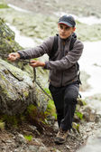 Teenage climber — Stock Photo