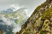 Cloudy mountains — Stock Photo