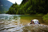 Professional nature photographer — Stock Photo