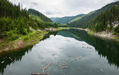 Lago galbenu en rumania — Foto de Stock