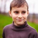 Happy child outdoor, selective focus — Stock Photo #5519491