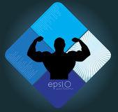Bodybuilding. vectorillustratie. — Stockvector