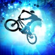 BMX cyclist — Stock Photo