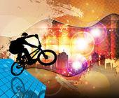 BMX cyclist — Stock Photo