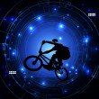 Stock Photo: BMX cyclist