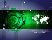 Futuristico background tecnico — Vettoriale Stock