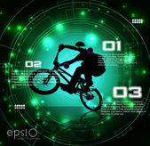BMX cyclist — Vettoriale Stock