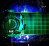 Futuristic technical background — Stock Photo