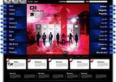 Website-design — Stockvektor