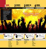 Website template easy to editable — Stockvektor