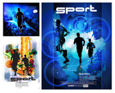 Cartel de deporte — Vector de stock