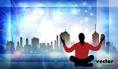 Meditation — Stock Vector