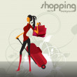 Royalty-Free Stock Vector Image: Woman\'s fashion and shopping