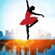 Ballet. Dancing illustration. Vector — Stockvectorbeeld