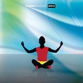 Tradiční jóga — Stock vektor