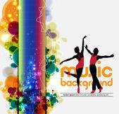 Ballet dancers performing — Stock Vector