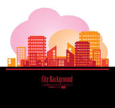 City background — Stock vektor
