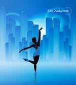 Balet. ilustracja — Wektor stockowy