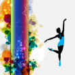 Ballet. Dancing illustration - Stock Photo