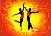 Ballet dancers — Stock Photo