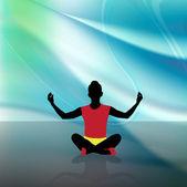Traditionella yogaställningarna — Stockfoto