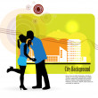 Couple kissing — Stock Vector