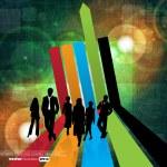 Business illustration — Stock Vector