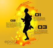 Runner — Stock Vector