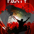 Vector illustration of music background party — Imagen vectorial
