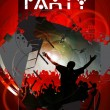 Vector illustration of music background party — Imagens vectoriais em stock