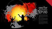 Dancing background party — Vector de stock