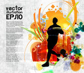 Sport illustration — Stock Vector