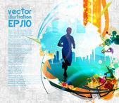Runner — Stock Vector
