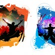 Vector illustration of music background party — 图库矢量图片