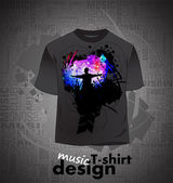 Vector. T-shirt design — Stock Vector