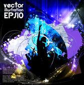 Dancing background party — Stock Vector