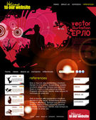 Web site layout with music event subject — Cтоковый вектор