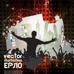 Dancing background party — Stock Vector #15554929