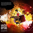 Vector de stock : Vector illustration of music background party